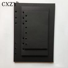 A5 A6 A7 пустая черная бумага Блокнот с отрывными листами спираль внутренняя заправка страниц записная книжка Журнал Планировщик путешествий muji стиль молочный дневник
