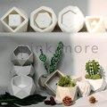 Molde de silicone de cimento de concreto geométrico molde de vaso de flores suculento molde de gesso geométrico simples