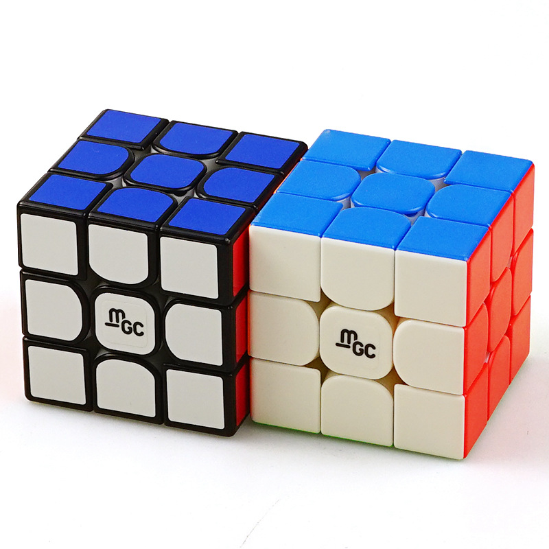 Hot New YJ 3X3X3 MGC3 Gen 2 II Magnetic Magic Cube 55mm Stickless Yongjun MGC Speed Professional Competition Cube Puzzle Toys