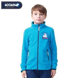 Image 2 - Muminki 2019 nowa dziecięca kurtka polarowa jesienna kurtka charakter niebieski zamek polar na co dzień płaszcz dziecięcy