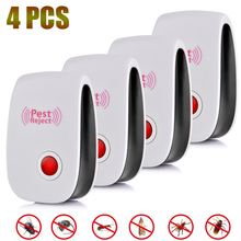 4pcs Electronic Ultrasonic Pest Repeller Anti Mosquito Repellent Mouse Pest Control Rejector Insect Cockroach Rat Bug Rejection electronic ultrasonic pest repeller mosquito rejector mouse rat mouse repellent anti mosquito killer rode