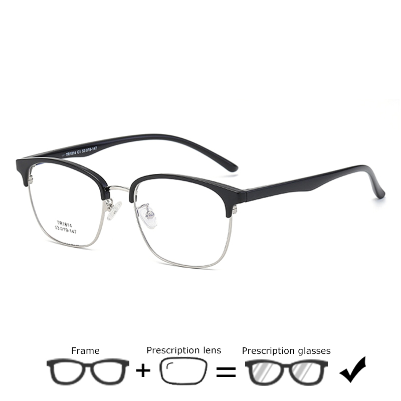 Business Men Prescription Glasses Hyperopia Eyeglasses Women Myopia Optical Frames Spectacles Ultralight Computer Recipe Eyewear(China)