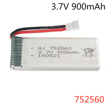 752560 lipo Battery 3.7V 900mAh For X5 X5C X5SC X5SW 8807 8807W A6 A6W Rc Quadcopter Spare Parts Accessories 3.7v Drones Battery image