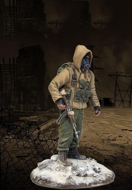 Montaj Boyasız Ölçeği 1/35 Stalker Serisi Elias tabanı ile asker Tarihi oyuncak Reçine Modeli Minyatür Kiti
