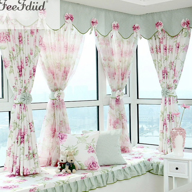 Hot Sale Modern Curtains Designs Window Curtains With Valances Beautiful  Flower Living Room Curtains Match Tulle