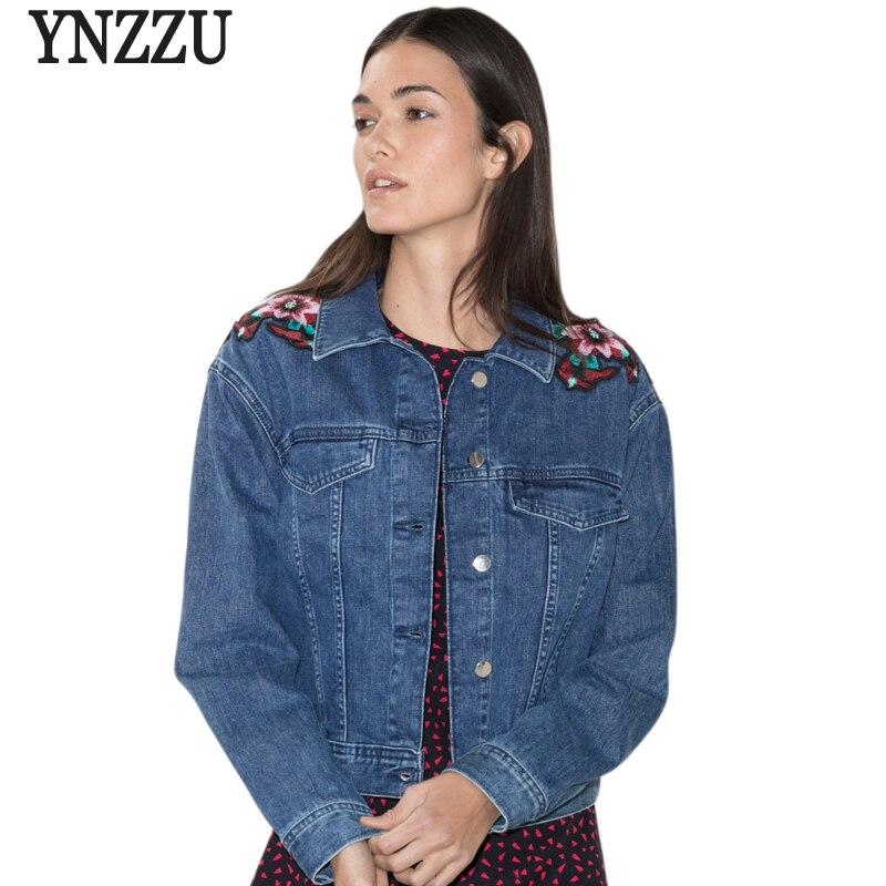 YNZZU 2017 New Women Autumn Blue Cotton s