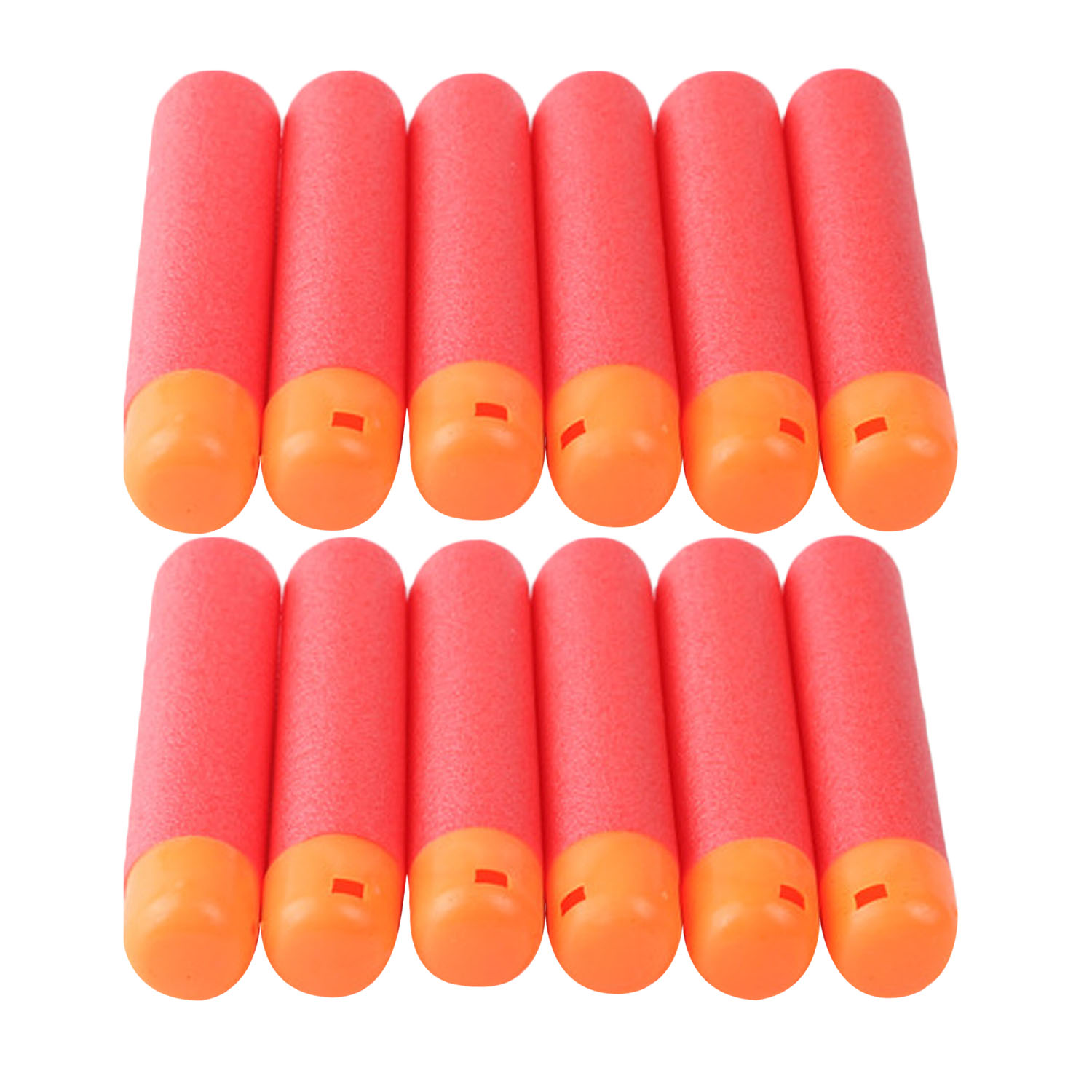 60PCS EVA Soft Foam Red Sniper Gun Bullets Toy Refill Darts Hollow Hole Head 9.5x2cm Air Core Design for Nerf Series Blasters