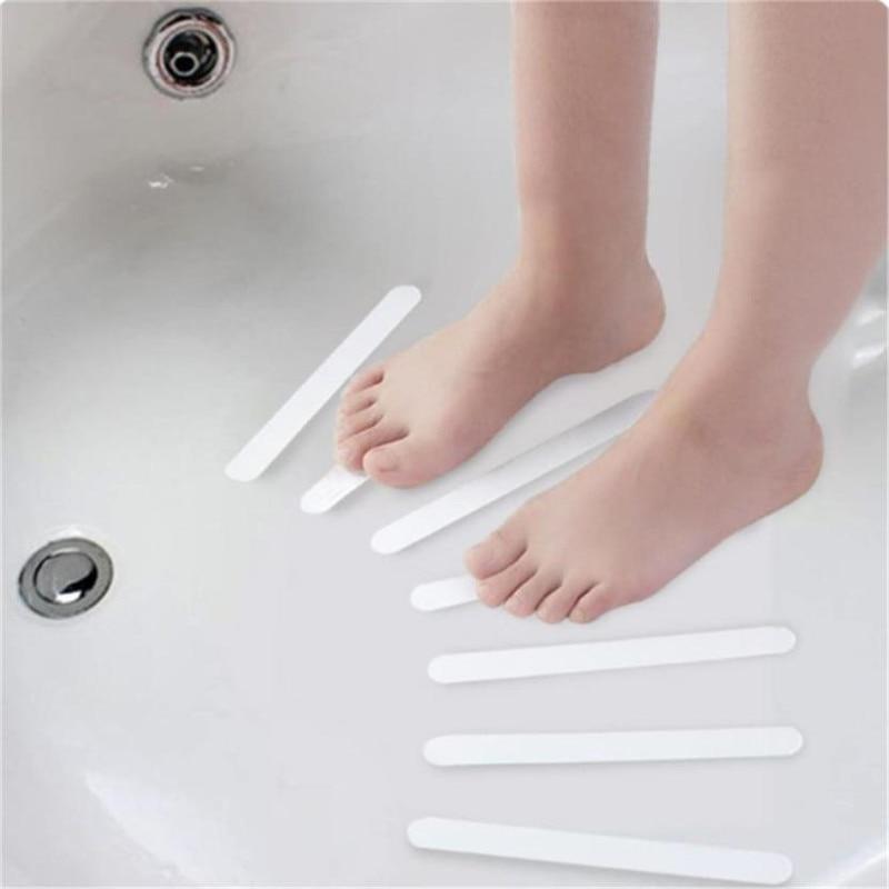 5pcs White Anti Slip Bath Grip Stickers Non Slip Shower