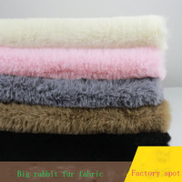 Autumn and winter small rabbit velvet 1400g big rabbit hair fake plush slippers velvet plush sofa rabbit fur fabric