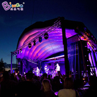 10m wide outdoor inflatable stage, inflatable stage cover tent for concert/performance/events toy tent