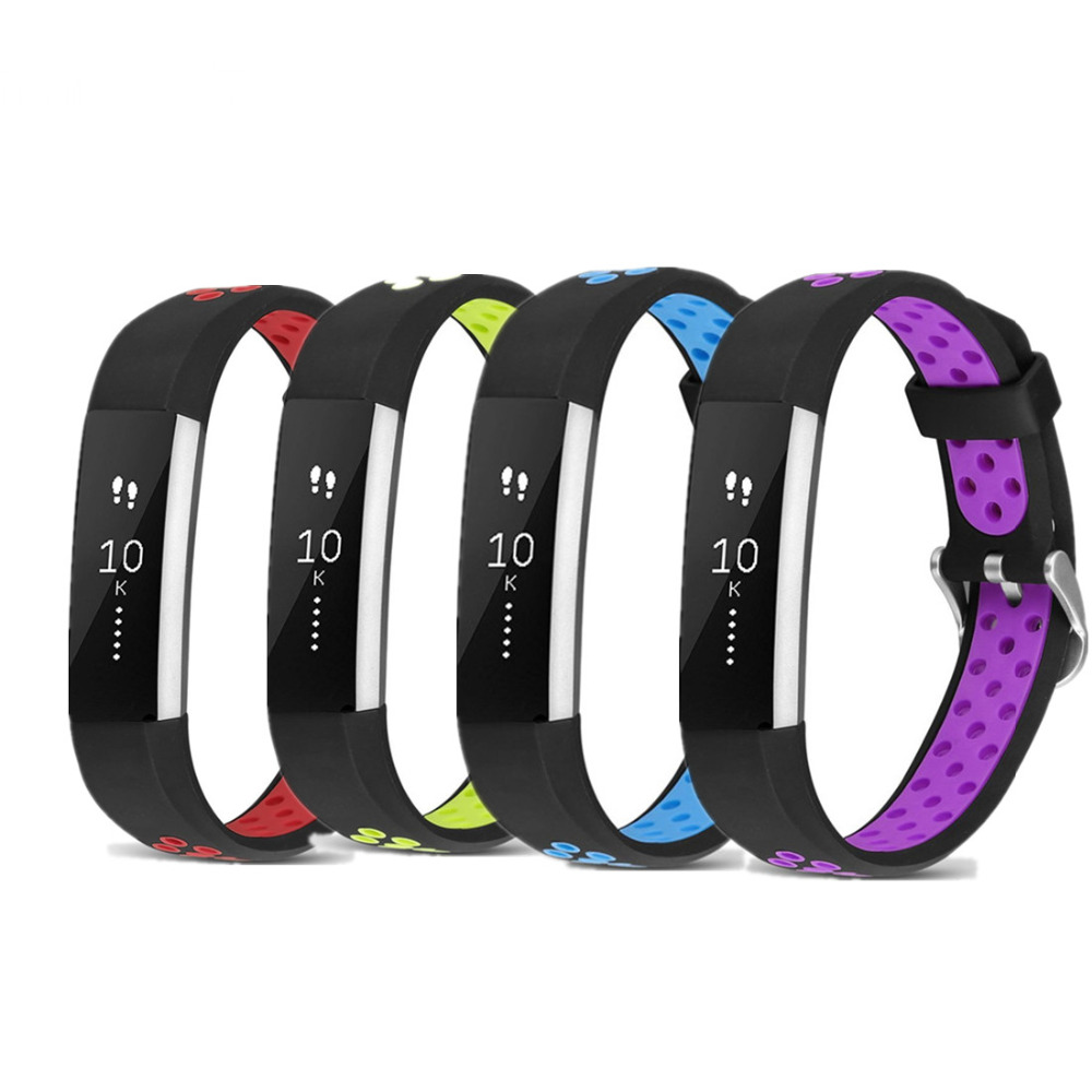Silicone Strap for fitbit alta hr band replacment rubber Breathable Smart Bracelet Classic buckle Wristband for fitbit alta/hr