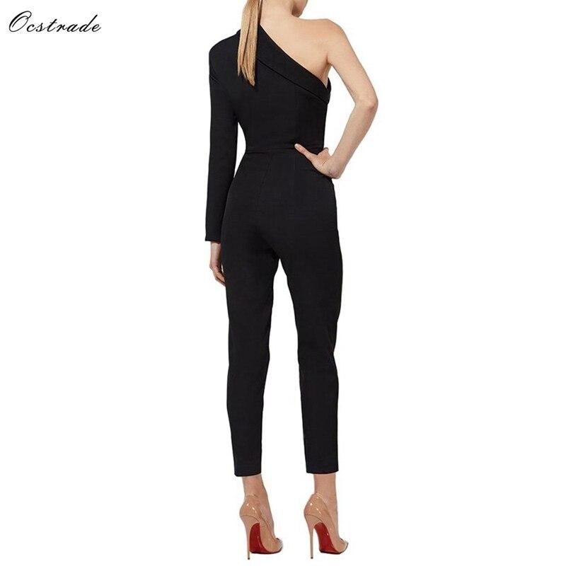 Jumpsuits Shoulder Fashion Bodycon 4