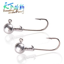 20Pcs Lead Head Fishing Hook 1g,1.5g,2g,3.5g,5g,7g,10g,14g,20 Shark Jig Bait Hooks For Soft Lure Fishing Tackle Tool Accessories hoofish 20pcs lot lead jig head fishing hook for soft fishing lure 10g 7g 5g 3g soft lure hooks bait hooks single hook