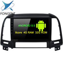 Fongent Android 8.0 Car Multimedia for Hyundai Santa Fe GPS Navigation 2006 2007 2008 2009 2010 2011 9 IPS Screen G+G 4g 32g