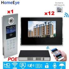 Умный видеодомофон 720p wi fi ip дверной звонок пароль/rfid