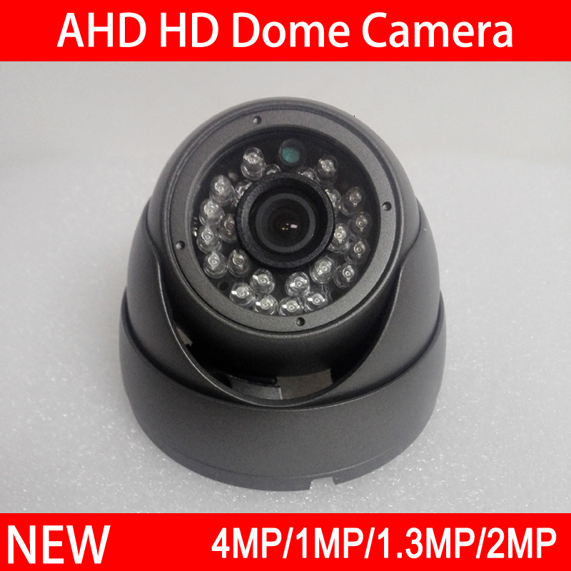 4pcs A Lot 24Pcs Infrared Leds 4MP/2MP/1.2MP/1MP White/Gray Metal Dome AHD CCTV Security Camera Free Shipping mp