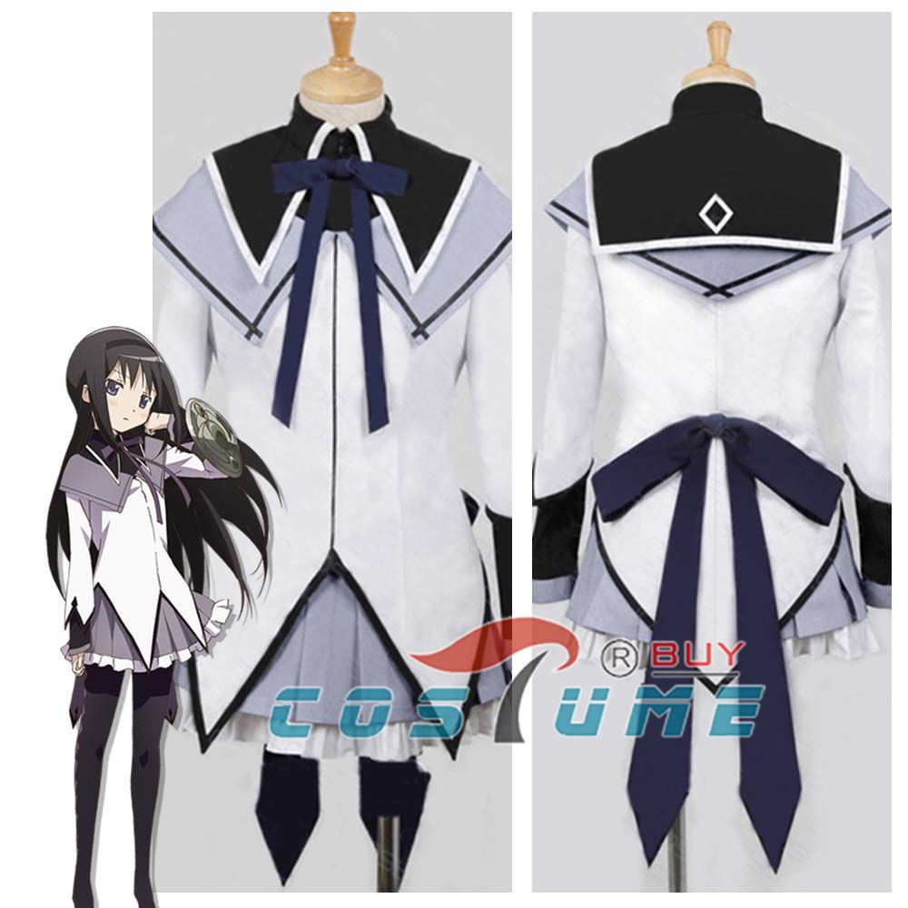 Puella Magi Madoka Magica Akemi Homura Cosplay Costume Custom Made Any Size