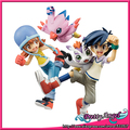 Original Megahouse Limited Edition G.E.M Digimon Adventure Sora Takenouchi & Piyomon / Joe Kido & Gomamon Set