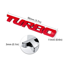 3D Metal Turbo Emblem Car Sticker for Ford Focus Porsche Peugeot Passat Magotan Golf 4 Volvo v4 Stickers Accessories