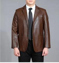 2017 spring new style men high-quality Suit Collar Leather Jackets Autumn Winter Male business casual Leather coat plus size 4XL