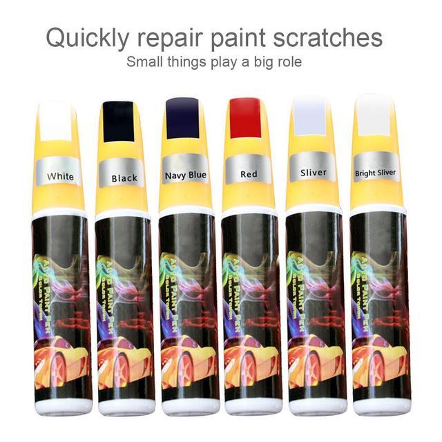 Car Paint Repair Pen Scratch Repair Pen Paint Repair Red Black White Silver Gray Paint Touch Pen Prevent Rusting Repair Pen