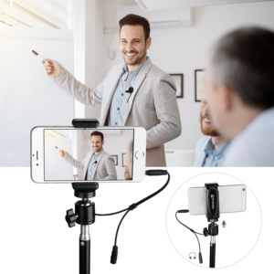 Image 4 - KIMAFUN 30 50m 2.4G Lavalier Wireless Mini Microphone for iphone Android Camera Laptop MAC for Youtube recording pc microphone