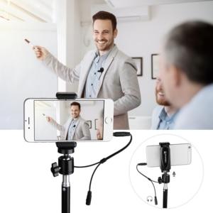 Image 4 - KIMAFUN 30 50m 2.4G Lavalier 무선 미니 마이크 for iphone 안드로이드 카메라 노트북 MAC for Youtube 녹음 pc 마이크