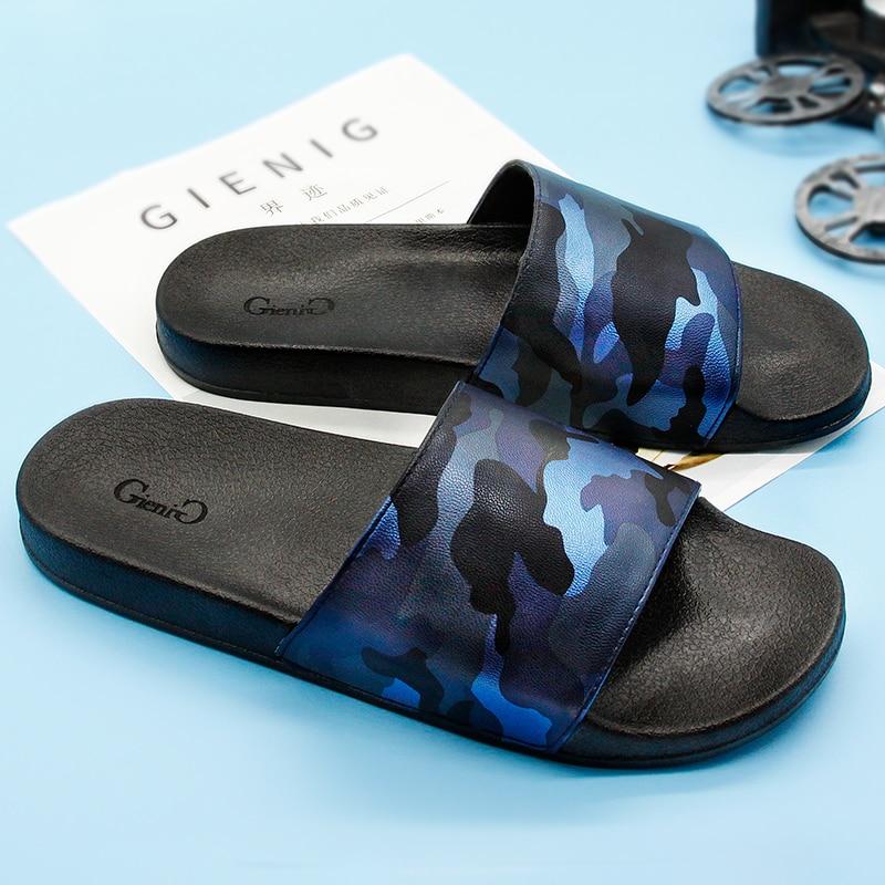 Gienig 2018 men's flip flops summer platform sandals camouflage personality men slippers