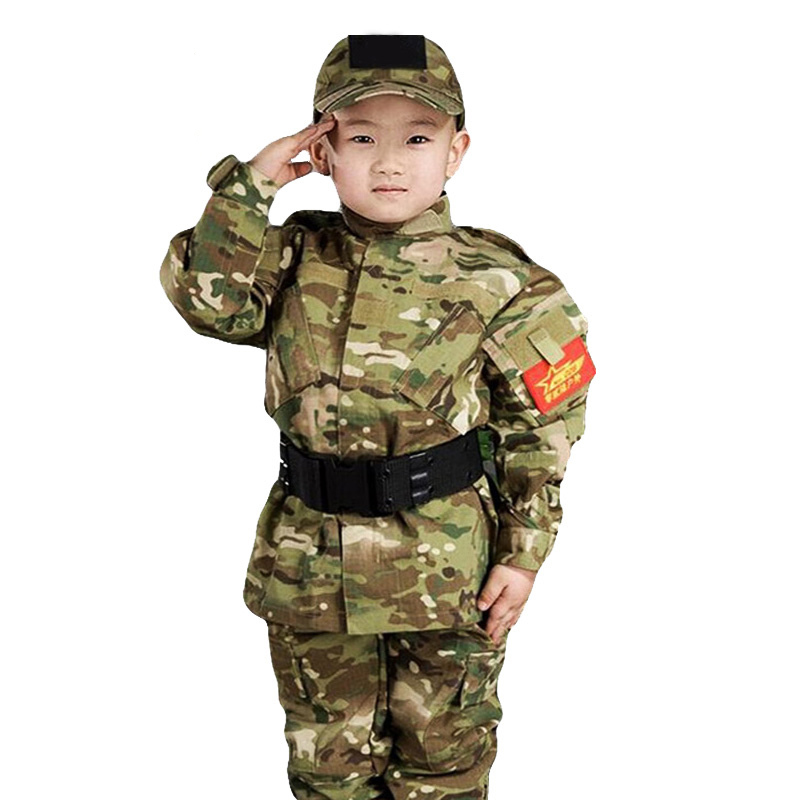 Kids Military Tactical Uniform Suit Boy Children Camouflage Jacket+Pants Clothes Army Airsoft Paintball Combat Camo CS Clothing