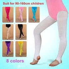 5b9b2f586e Verão Criança Meias de Dança de Veludo Meia-calça De Balé Meninas Macio  Elástico Leggings