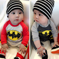 New Born Baby Clothes Long Sleeve Cotton Baby Romper Fleece Toddler Bebe Jumpsuits Batman Costume 2017 Autumn Baby Boy Clothes