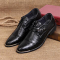 Classical Man Dress Wedding Flat Shoes Luxury Men's Business Oxfords Casual Shoe Fashion Black Brown Leather Office Party Shoes