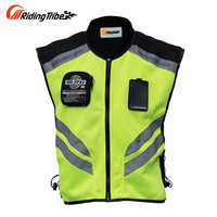 Riding Tribe Sleeveless Motorcycle Motorbike Motocross Jacket Safety Motorbike Reflective Jacket Sports Wear Racing Moto Vest