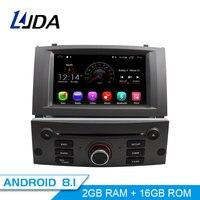 LJDA 1 Din Android 8,1 автомобильное радио для peugeot 407 2004 2010 автомобильный мультимедийный плеер стерео Авто аудио gps Навигация DVD видео ips