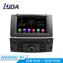 LJDA 1 Din Android 8,1 автомобильное радио для peugeot 407 2004-2010 автомобильный мультимедийный плеер стерео Авто аудио gps Навигация DVD видео ips