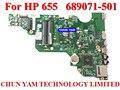 НОВЫЙ ноутбук mothebroard 689071-501 для HP Promo 655 Notebook PC mainboard 689071-001 системной платы 100% тестирование 90 DaysWarramty