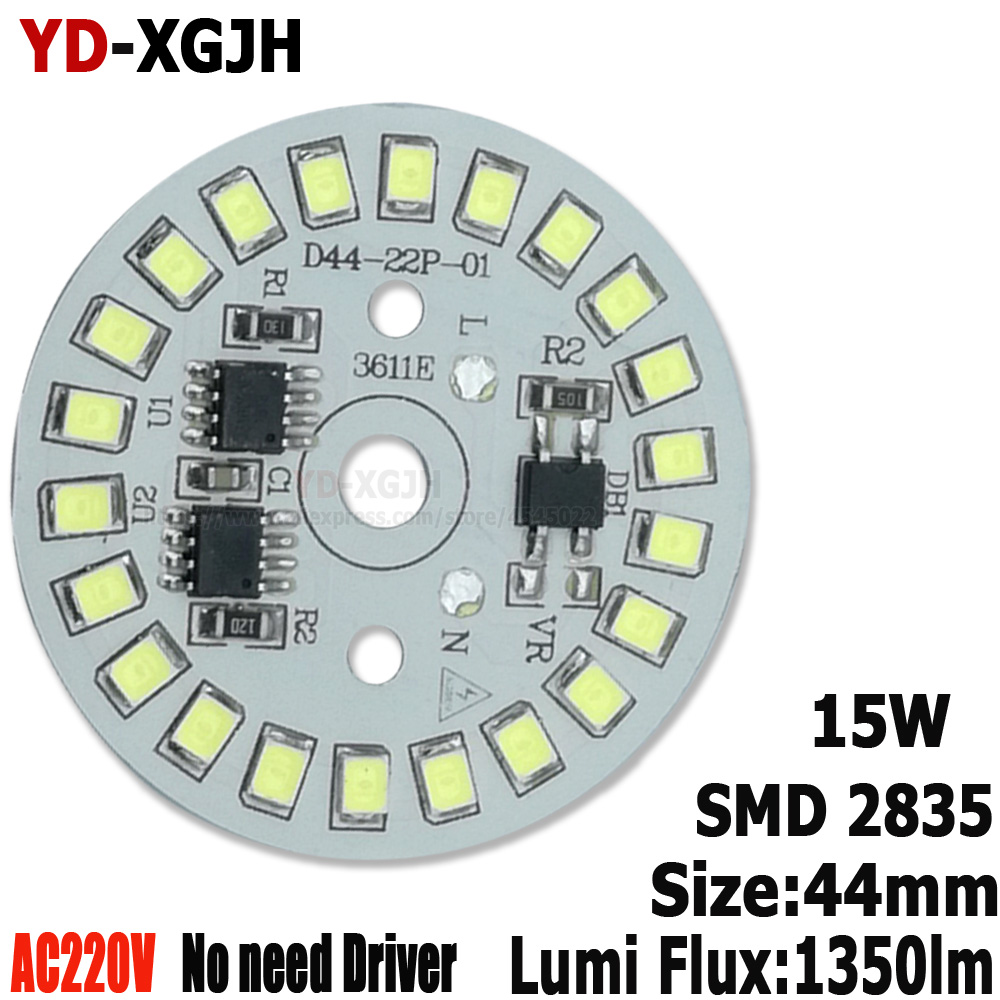 20PCS 15W 44mm AC 220v Led Pcb 2835SMD 3w 5w 7w 9w 12w Integrated Ic Driver, Led Smart IC SMD, Led Light Source For 15W LED Bulb