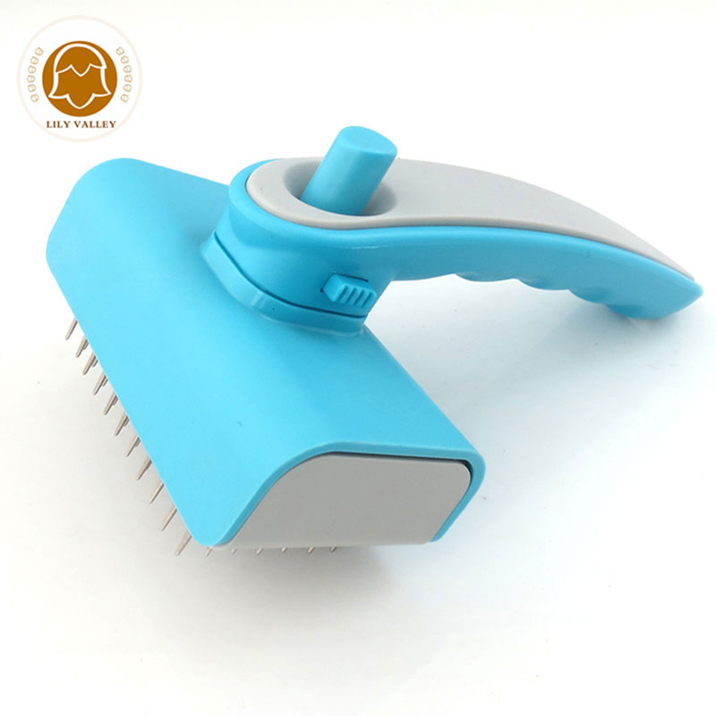 Dog Brush for Shedding Grooming Dematting Flea Comb Self Cleaning Pet Brushes for Small Large Dogs Cats Suitable for Long Hairs