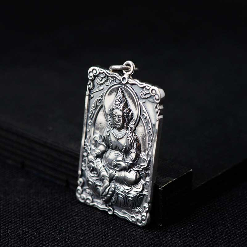 1c947c99dc47 FNJ 925 Silver Buddha Pendant Figure Lucky New Fashion Hang Pure Original  S925 Thai Pendants Women for Jewelry Making