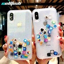 Cute App Icon Liquid Phone Case for iPhone