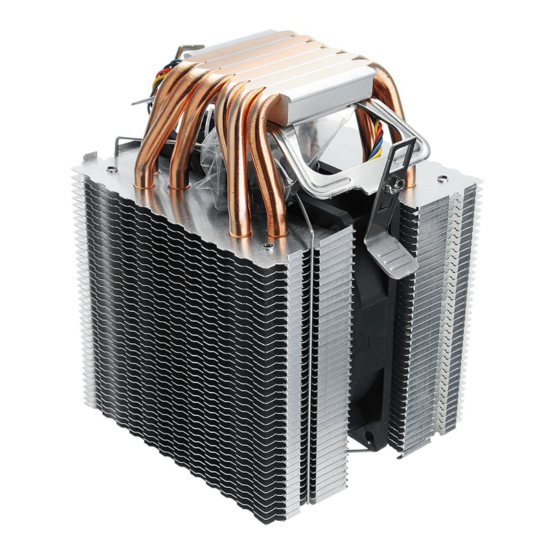 6 Heat Pipe 4 Wire Single <font><b>Fan</b></font> Without Light <font><b>Cpu</b></font> <font><b>Fan</b></font> <font><b>Cpu</b></font> Heatsink For Intel <font><b>775</b></font>/1150/1155/1156/1366 For Adm All image