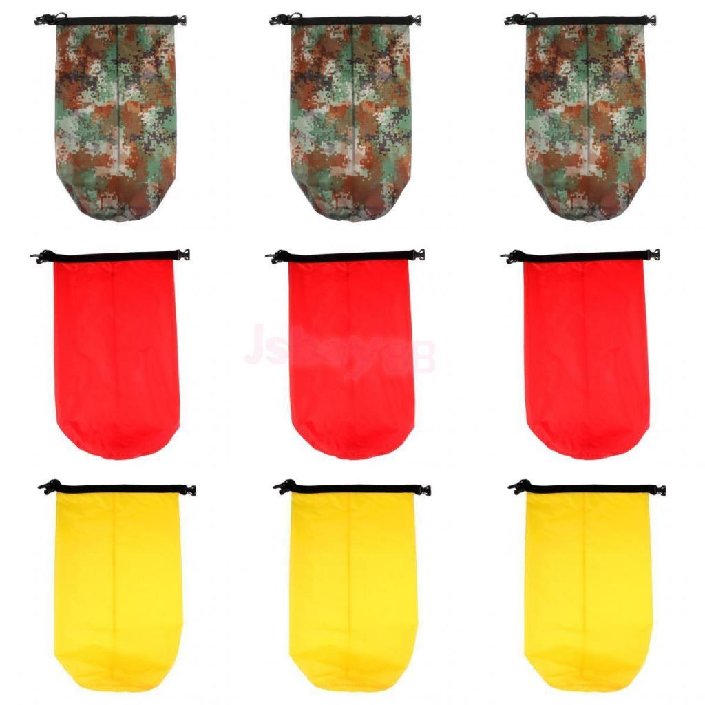 5L 10L 20L Dry Bag Sack Waterproof Dry Gear Bag For Boating Kayaking Rafting Extra Tough Waterproof Nylon Coating Material