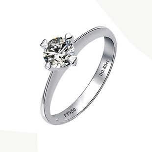 Anel clássico 4 Pontas 0.8Ct SONA anel de Diamante Sintético do Anel de Noivado Genuine Sterling Silver Branco Anel da Cor do Ouro de Presente de Casamento