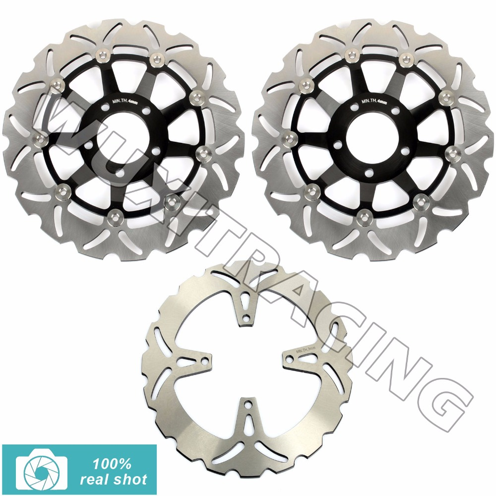 Full Set Front Rear Brake Discs Rotors for SUZUKI GSX 400 600 750 F SS N Katana Impulse 89-97 99 05 90 91  GSF 400 Bandit 89-94 full set front rear brake discs disks rotors pads for suzuki gsxr 750 94 95 gsx r 1100 p r s t 1993 1994 1995 1996