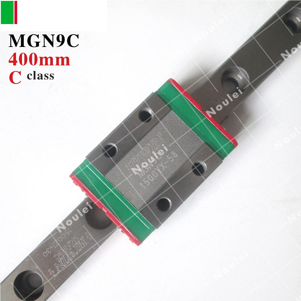 HIWIN MGN9C mini MGN9 slider with 400mm MGNR9 linear guide rail for 3d printer High efficiency CNC parts 9 mm MGN metal frame linear guide rail for xzy axix high quality precision prusa i3 plus creality 3d cr 10 400 400 3d printer diy kit