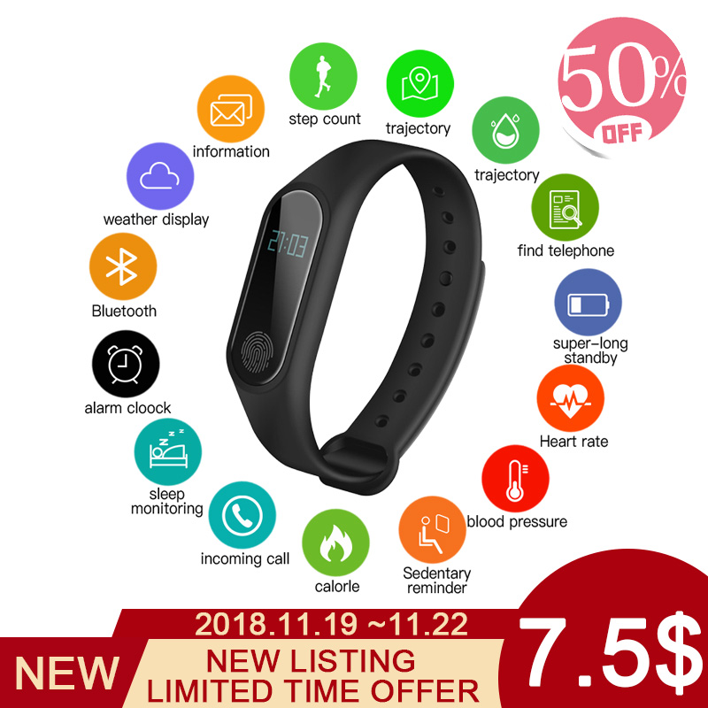 Lover's Watches Delicious 2018 New Smart Watch Men For Android Ios Heart Rate Pedometer Watch Waterproof Sport Watch For Men Digital Watches Pk Mi Band 2 Fine Craftsmanship