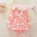 2017 Cotton Baby Coat Jacket Direct Selling Print Unisex Dobby New Spring Cute Girl Coat Full Sleeve Toddler Outerwear 80-110cm