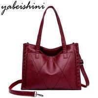 Women Leather Handbags Women Messenger Bag Designer Big Crossbody Bags For Women Bolsa Feminina Tote Shoulder Bags Sac A Main