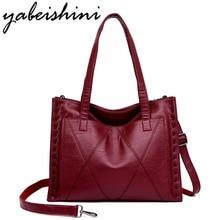 цена на Women Leather Handbags Women Messenger Bag Designer Big Crossbody Bags For Women Bolsa Feminina Tote Shoulder Bags Sac A Main