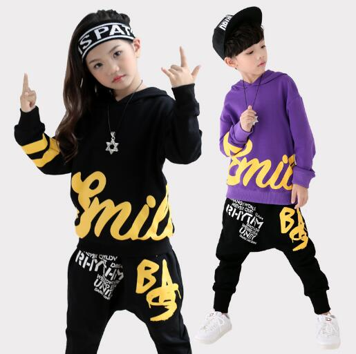 Bambini Vesti per Ragazzi Set Hip Hop Vestiti di Sport Causale Felpe + Pantaloni stile harem Delle Ragazze Vestiti di Autunno Dei Bambini A Maniche Lunghe Attrezzatura di BalloBambini Vesti per Ragazzi Set Hip Hop Vestiti di Sport Causale Felpe + Pantaloni stile harem Delle Ragazze Vestiti di Autunno Dei Bambini A Maniche Lunghe Attrezzatura di Ballo